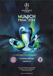 * 2012 CHAMPIONS LEAGUE FINAL - CHELSEA v BAYERN MUNICH *