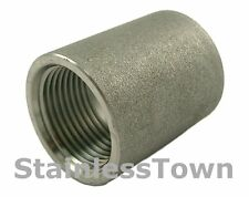"""Stainless Threaded Pipe Coupling 1/8"""" Type 304"""