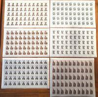 Berlin 303 - 308 Bogen Satz postfrisch komplett Michel 175 Euro Kunstschätze MNH