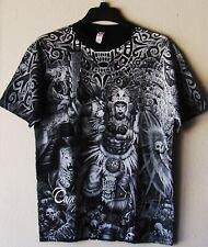 "Cancun ""The Mayan Warrior"" T-Shirt Black & Silver XL New!"