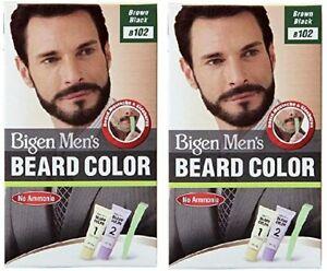 Bigen Men's Beard Color Combo Pack of 2 - Brown Black 40gm x 2