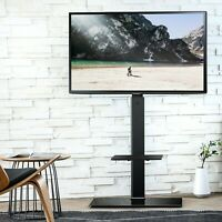 Floor Universal TV Stand With Swivel Mount Height Adjustable For Flat Screen TV