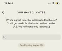 Clubhouse Invite IPHONE only (CHEAPEST)