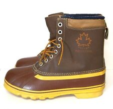 Snowmaster Canada Winter Boots Men's 12 M Leather Snow Duck Waterproof Shoes