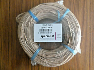 Rattan chair cane, 2x 250gm coils, 2.9mm, new shrinkwrapped.
