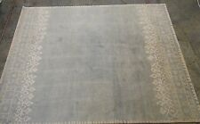 Pottery Barn Outlet Blue Desa Bordered Wool 8x10 Rug Authentic