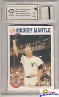 1997 Scoreboard #66 Mickey Mantle YANKEES WORN JERSEY Beckett 10 MINT GGUM