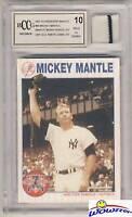 1997 Scoreboard #66 Mickey Mantle YANKEES WORN JERSEY Beckett 10 MINT GGUM