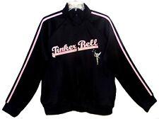 Sz XL Women TINKER BELL Track Jacket DISNEY STORE Black/Pink Front Zip Poly Mix