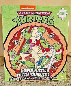 TEENAGE MUTANT NINJA TURTLES PUZZLE NEW 46 PC PIZZA SHAPE 2020 NICKELODEON TMNT.