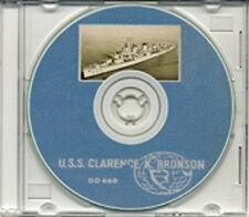 USS Clarence K Bronson DD 668 1953 54 Cruise Book on CD