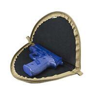 """VISM Tan 1.5"""" Thick Soft Padded Lockable Zippered Pistol Handgun Case Pouch"""