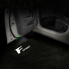 2x F Sport Logo LED Door Laser Projector Lights For Lexus ES IS 19-20 Pure White