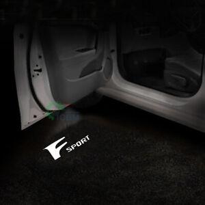 2x F Sport Logo LED Door Step Laser Projector Lights For Lexus IS ES GS LS GX RC