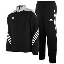 adidas Football Youth Soccer Sereno 14 Polyester Suit Tracksuit Boys Black Grey 164