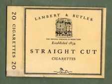 Old EMPTY cigarette packet Lambert & Butler Straight size 20 #135