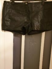 "Womens ladies Leatherotics Hotpants Leather Shorts Size 16 38"" Button & Zip"