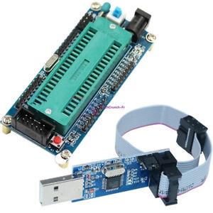 ATMEGA16 ATmega32 Minimum System Board +10Pin USB ISP USBasp Programmer Cable FR