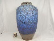 Beautiful blue Fat Lava glazed 70´s design STEULER Keramik pottery vase 4339/4