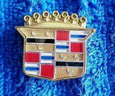 NOS NEW OEM GM GOLD 70s-90s Cadillac Roof Vinyl Top Crest Ornament Emblem Logo