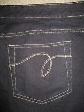 AVENUE DENIM The Boot Divine Stretch Dark Black Jeans Womens Size 26 P Mint