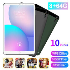 "10"" Ultra-thin 4G+WIFI 8+64GB Tablet PC Android 10.0 Dual SIM Triple Camera"