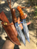 DAMASCUS VG10 HUNTING KNIFE HANDCRAFTED SURVIVAL FIXED BLADE SELLER EMAZING DEAL