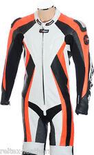 Tute in pelle e altri tessuti bianchi donna per motociclista