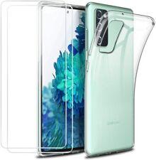 Pour SAMSUNG Galaxy S20 FE Coque Arrière Silicone transparent + 2 Verre Trempé