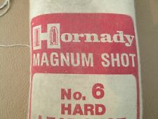 25# Hornady #6 xtra Hard Magnum Lead Shot, Unopened Bag, diving, exercise weight
