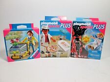 Playmobil Figure Lot 4766 4638 5411  NEW  In Sealed Box Pizza Flowers Angel