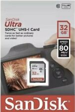NEW 32GB Sandisk Ultra SD Card SDHC Class 10 UHS-1 Memory Card 80MB/s UK Seller