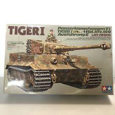 Tamiya Tiger I Panzerkampfwagen VI Sd.kfz.181 Late Vers 1/35 35146 Partial Build
