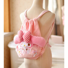 Super Pink 3D Bow My Melody Plush Softs Backpack Kids School Bag Birthday gifts
