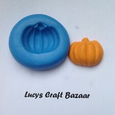 Silicone Mould Pumpkin Halloween Cupcake Pop Topper Fimo Sugarcraft Flower Paste