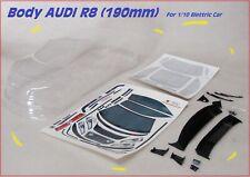 Carrozzeria Body 1/10 AUDI R8 190mm RC Drift OnRoad Brushless For Kyosho Tamiya