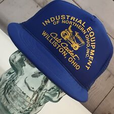 Vintage Club Cadet Ohio Blue Mesh Truckers Hat Snap back Cap