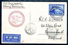 DR 1930 438 LUSSO lettera Zeppelin in Inghilterra € 500 (z7046b