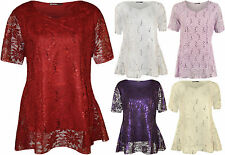 Party V Neck Hip Length Tops & Shirts Plus Size for Women