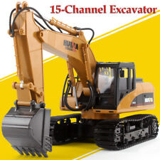 R/C EXCAVATOR 1/14 RC EXCAVATOR Metal Construction +Engine Sounds, Lights 2.4GHz