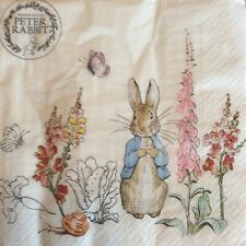 paper napkins decoupage x 2 Peter rabbit  33cm