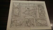 Antica Carta Geografica Cinquecentesca Sicilia Sardegna Malta Corfù