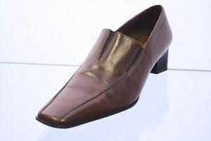 Tamaris Slipper Schuhe braun Leder Vario Gr. 41 (UK 7)