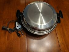 "TOWNECRAFT CHEF'S WARE Liquid Core 13"" Electric Skillet w/ Lid"