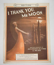 I Thank You Mr Moon 1931 Sheet Music By Dave Oppenheim Ideal For Framing