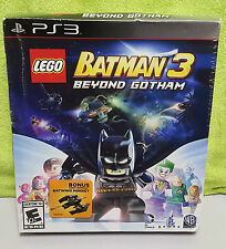 PS3 Playstation 3 Lego Batman 3 Beyond Gotham Game & Batwing Miniset - NEW