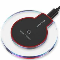 Clear Qi Wireless Fast Charger Charging Pad fr Samsung Galaxy Note 8 S8 iPhone 8