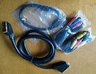 SET 4 CAVI VIDEO: SCART SCHERMATO 24 POLI CONNETTORI DORATI+COMPONENT+SVIDEO+RCA