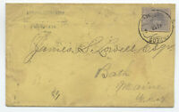 1886 Matanzas cover to Bath ME NY paid all [y4708]