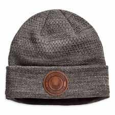 HARLEY-DAVIDSON® MEN'S FLEECE LINED BROWN BEANIE HAT 97806-19VM ONE SIZE